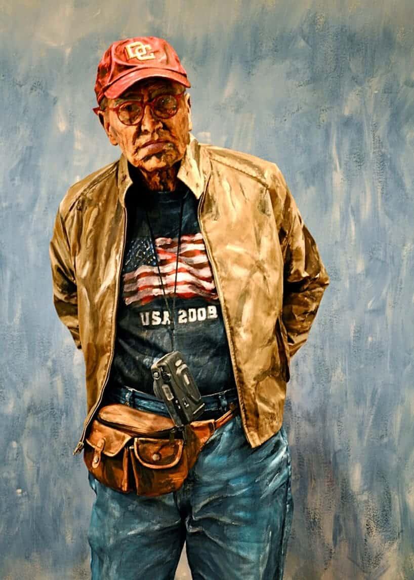 foto van een beschilderde man