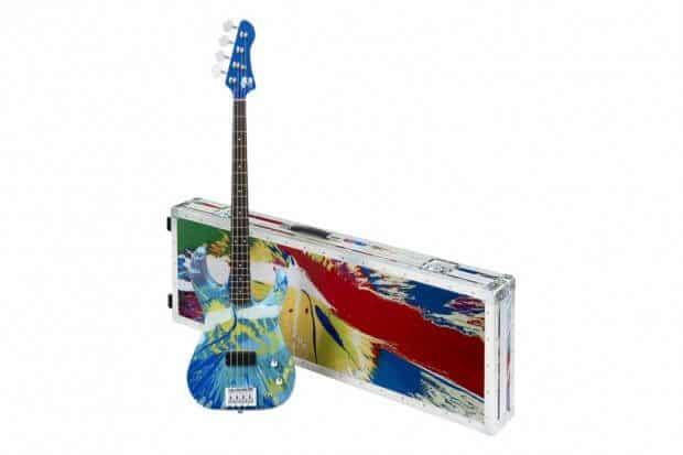 damien hirst flea color bass guitars 1 620x413