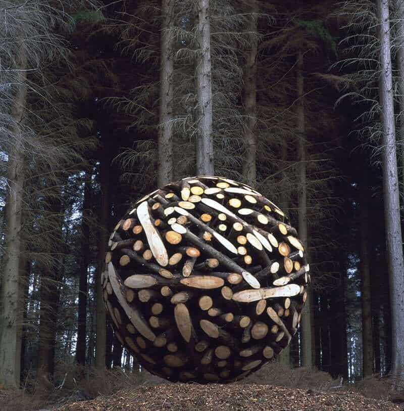 giant wooden spheres lee jae hyo sculptures 1