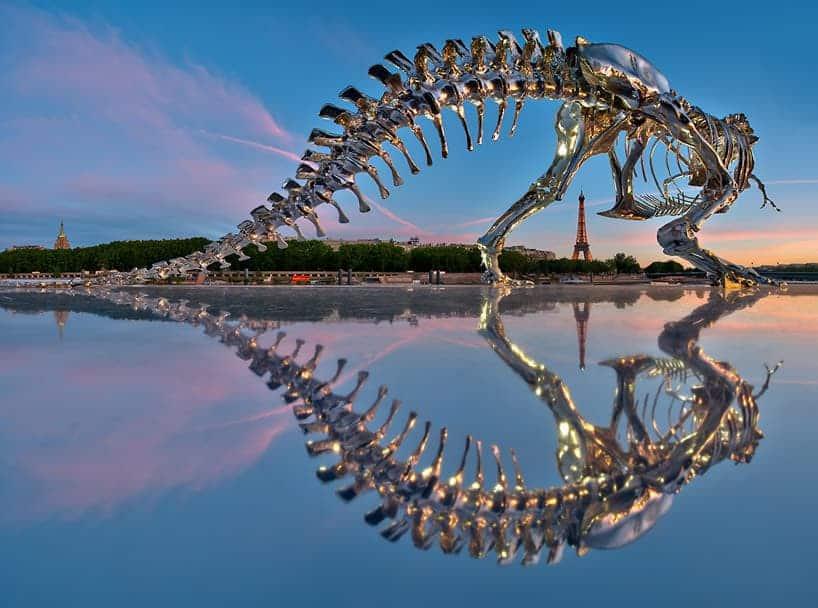 t. rex in Parijs
