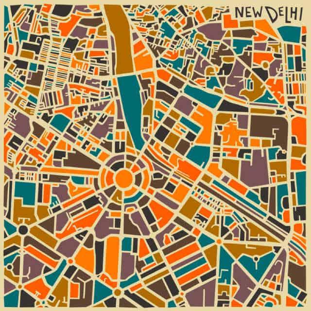 abstracte plattegrond