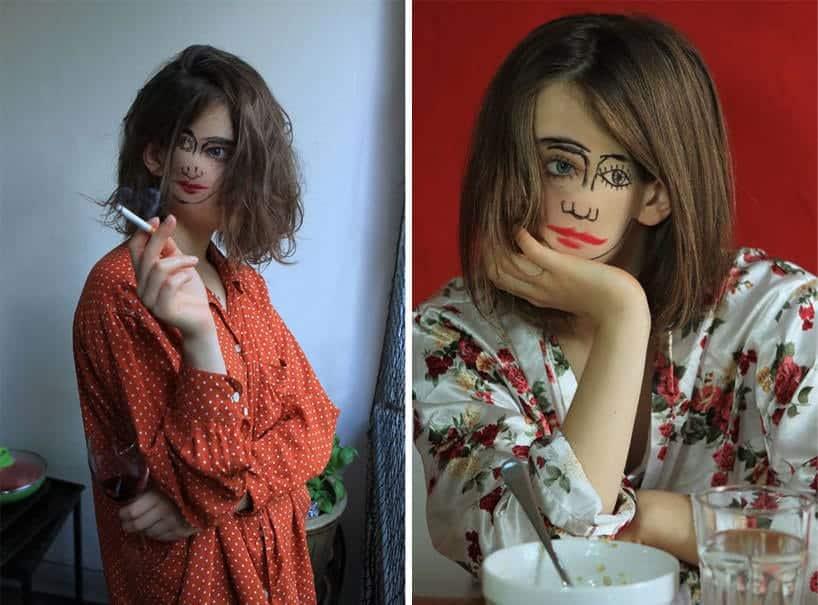 meisje met 2 gezichten