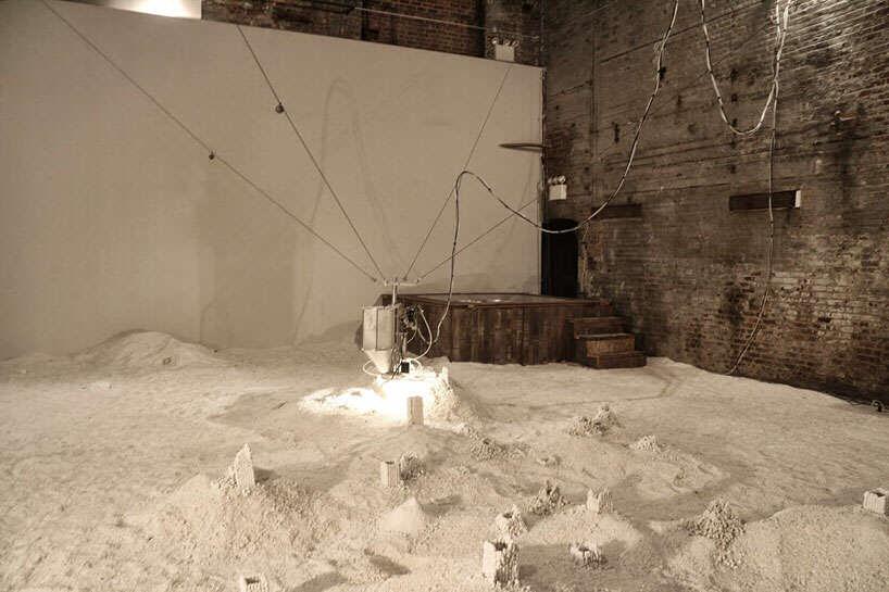 bouwwerken van zout en een hot tub
