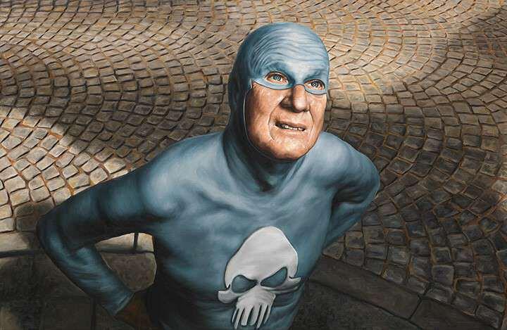 bejaarde superheld