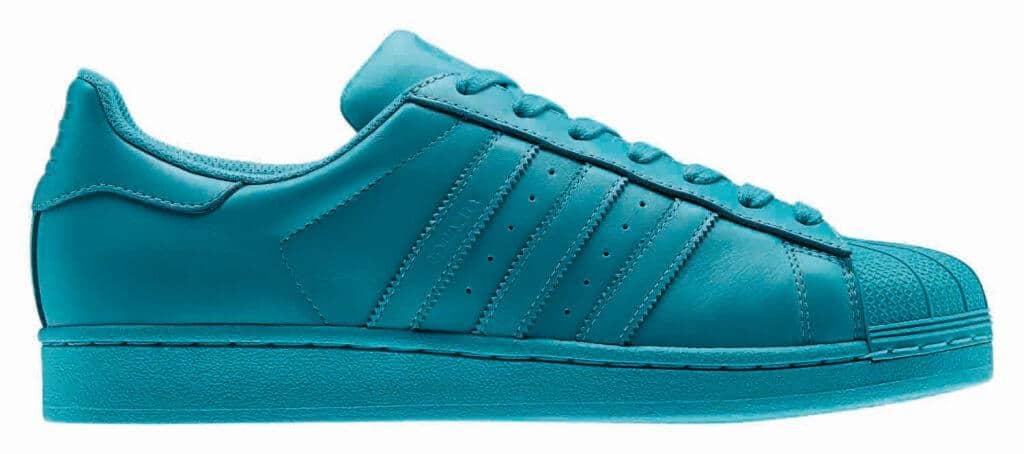 turquoise adidas superstar