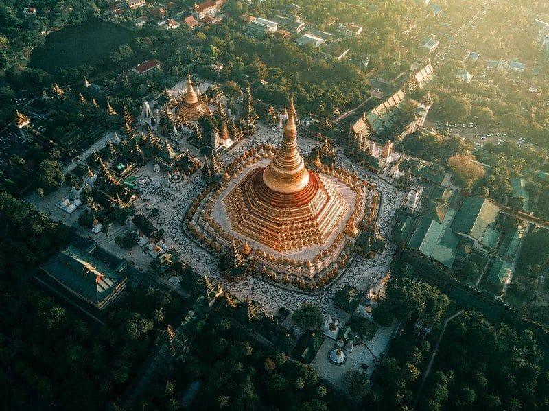 Myanmar vanuit de lucht