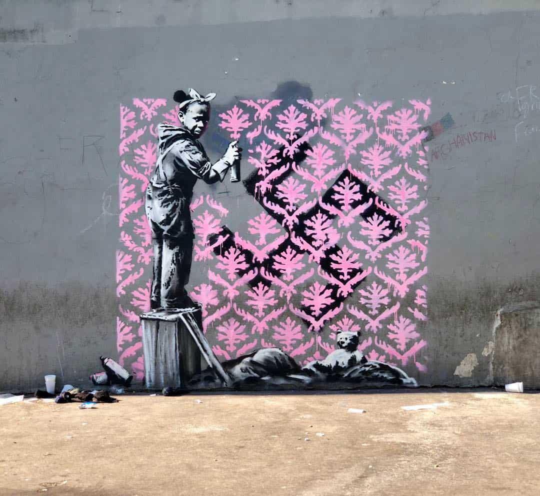 Nieuw werk van Banksy in Parijs