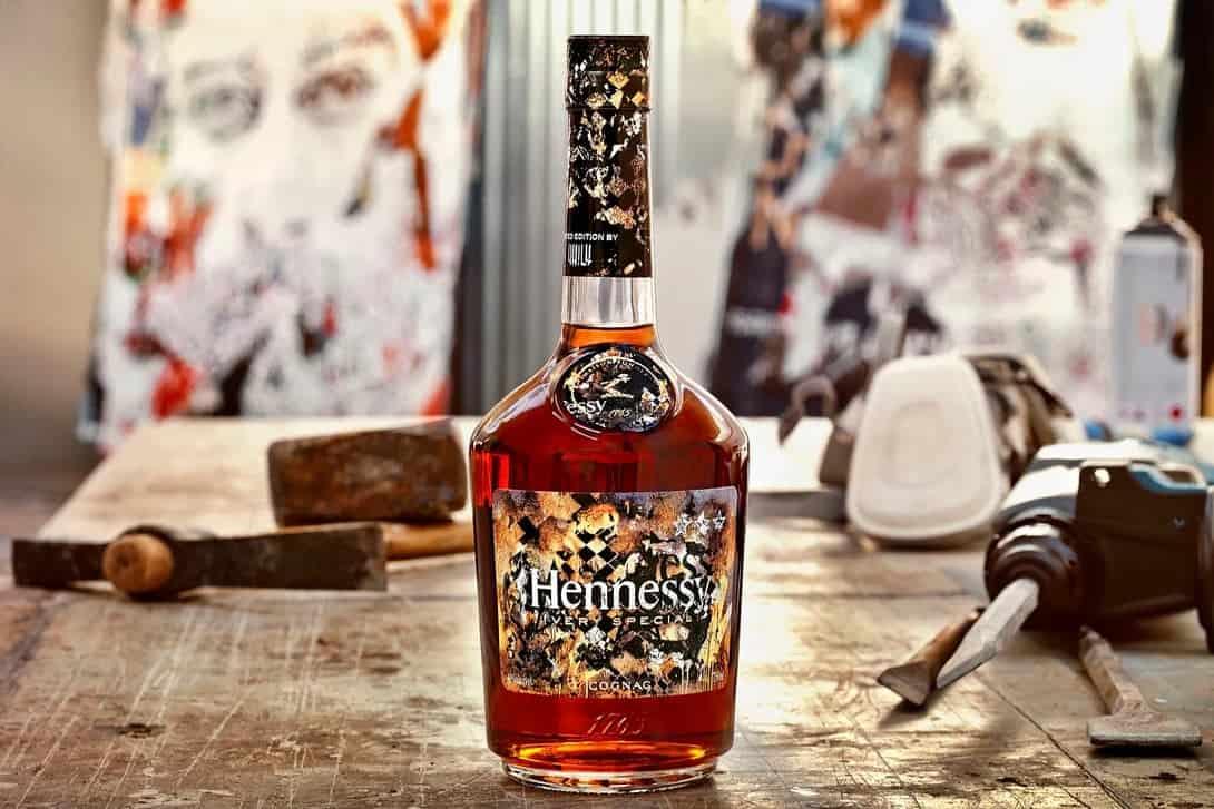gelimiteerde fles cognac van Hennessy