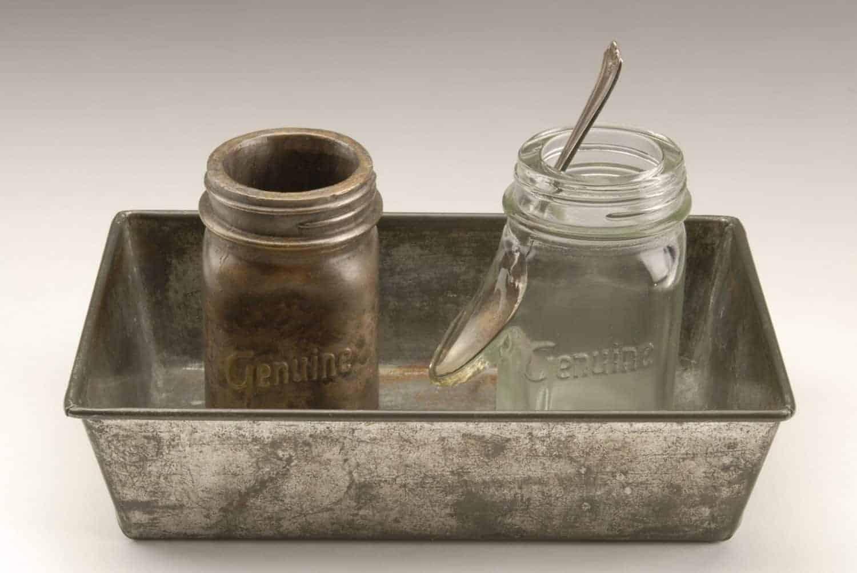 """Genuine Relation,"" Blown glass, cast bronze, found objects, 6.5 x 10.5 x 6.5 inches, photo credit: Serena Nancarrow"