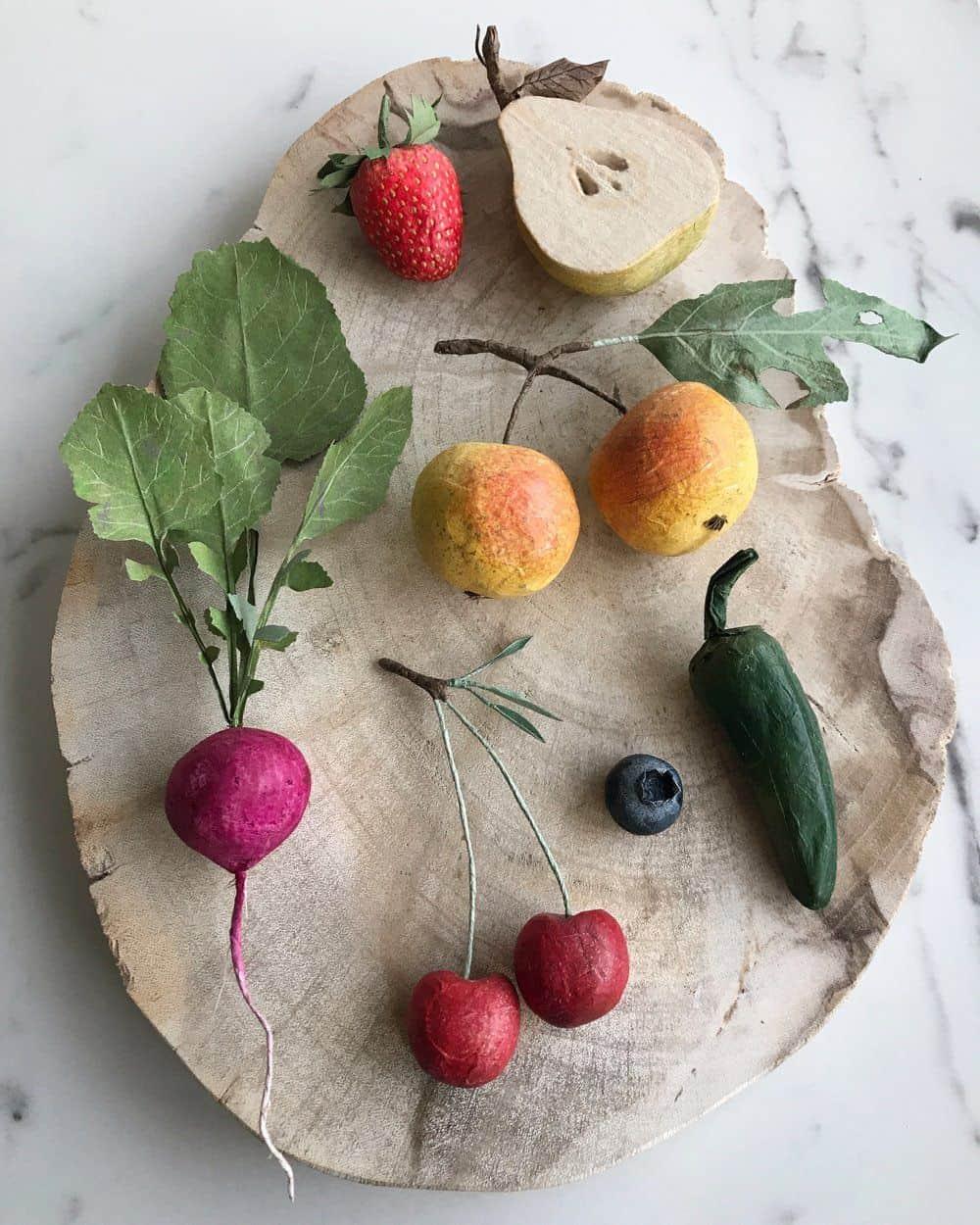 groente en fruit van papier