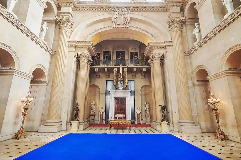 blauw in het paleis