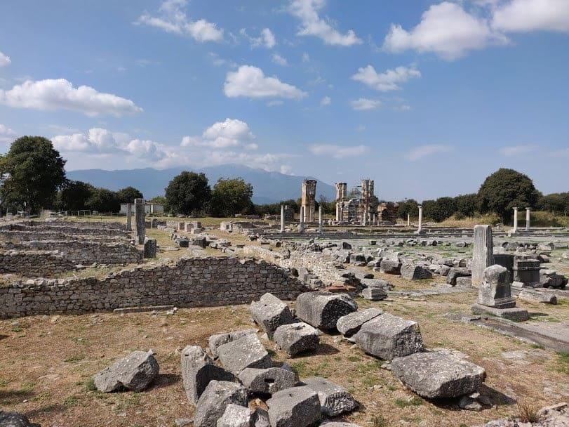 De oude stad Philippi