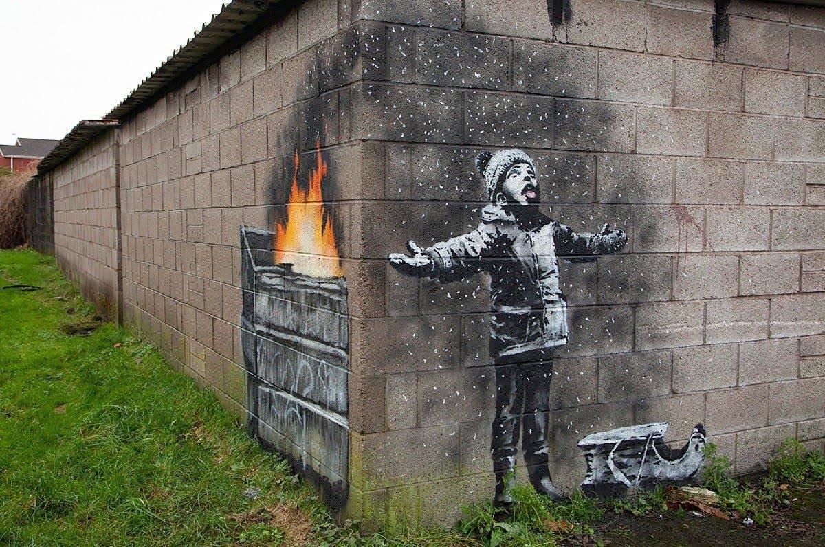 kerstgroet van Banksy