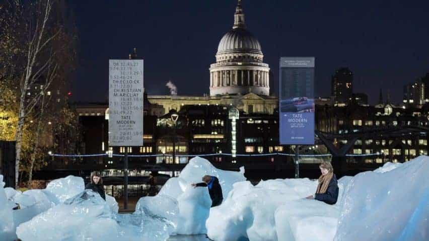 ijsblokken in Londen