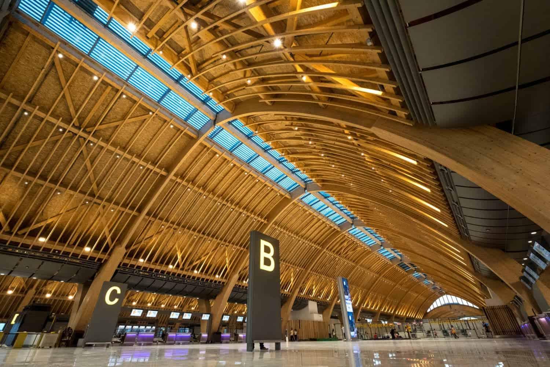 vliegveld met prachtig dak