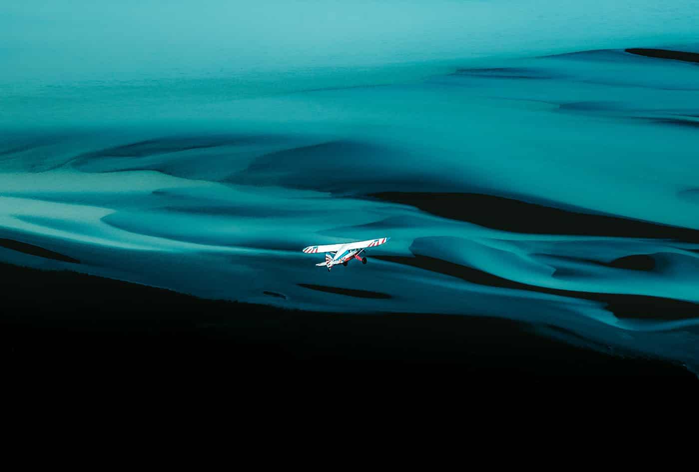 vliegen boven IJsland