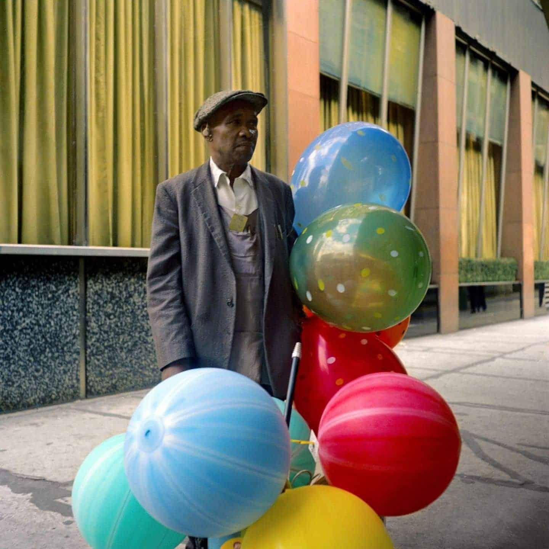 kleurenfoto van Vivian Maier