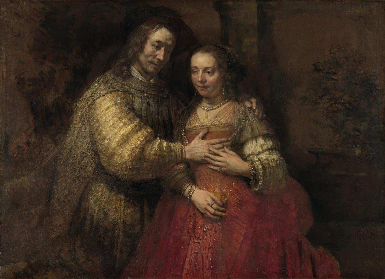 Rembrandt van Rijn - Isaak en Rebekka Beter bekend als Het Joodse bruidje circa1665
