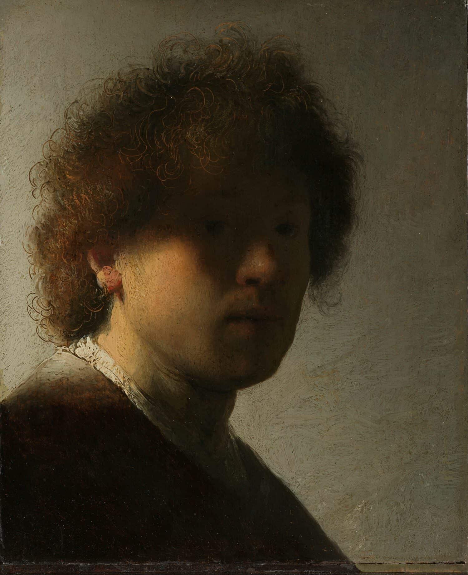 Rembrandt van Rijn - Zelfportret circa 1628