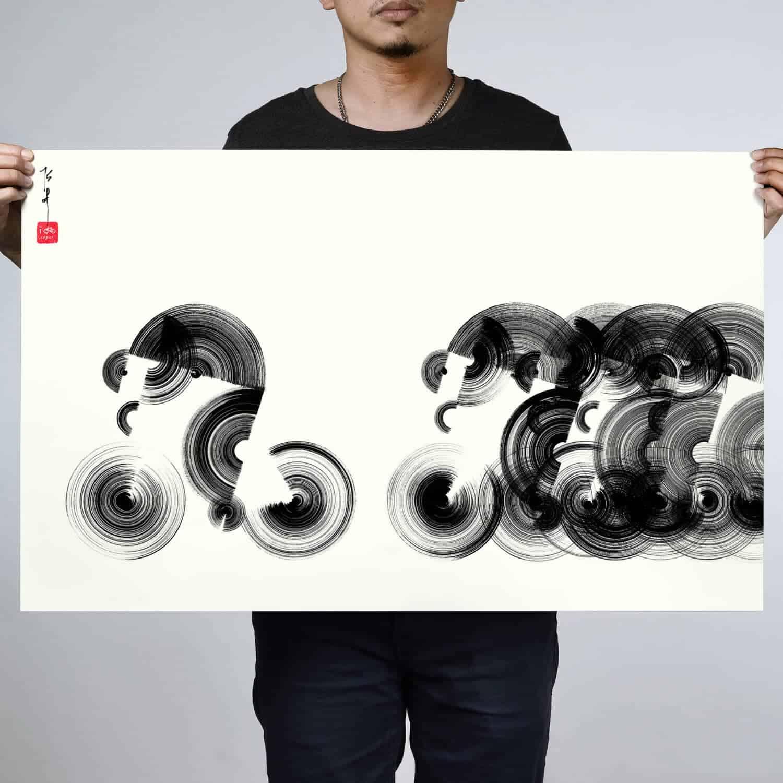 Werk van de Chinese kunstenaar Thomas Yang