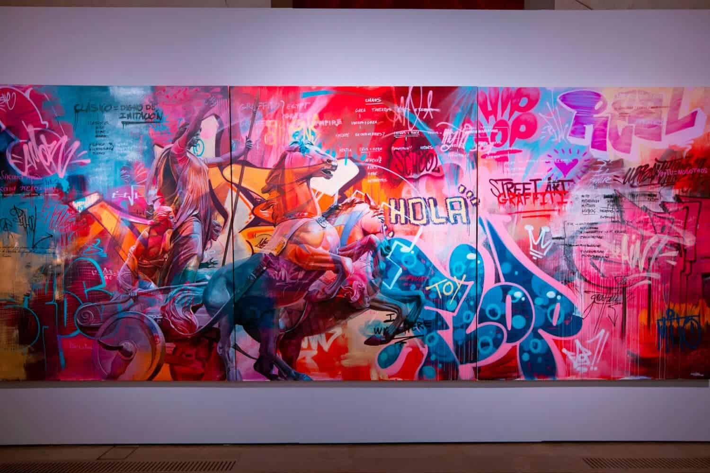 Griekse goden en graffiti door Pichi & Avo