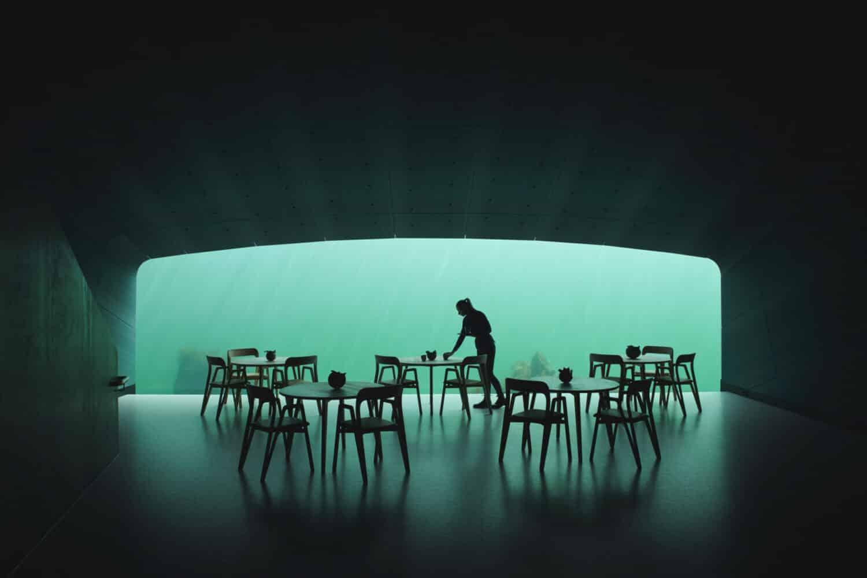 Onderwaterrestaurant Noorwegen