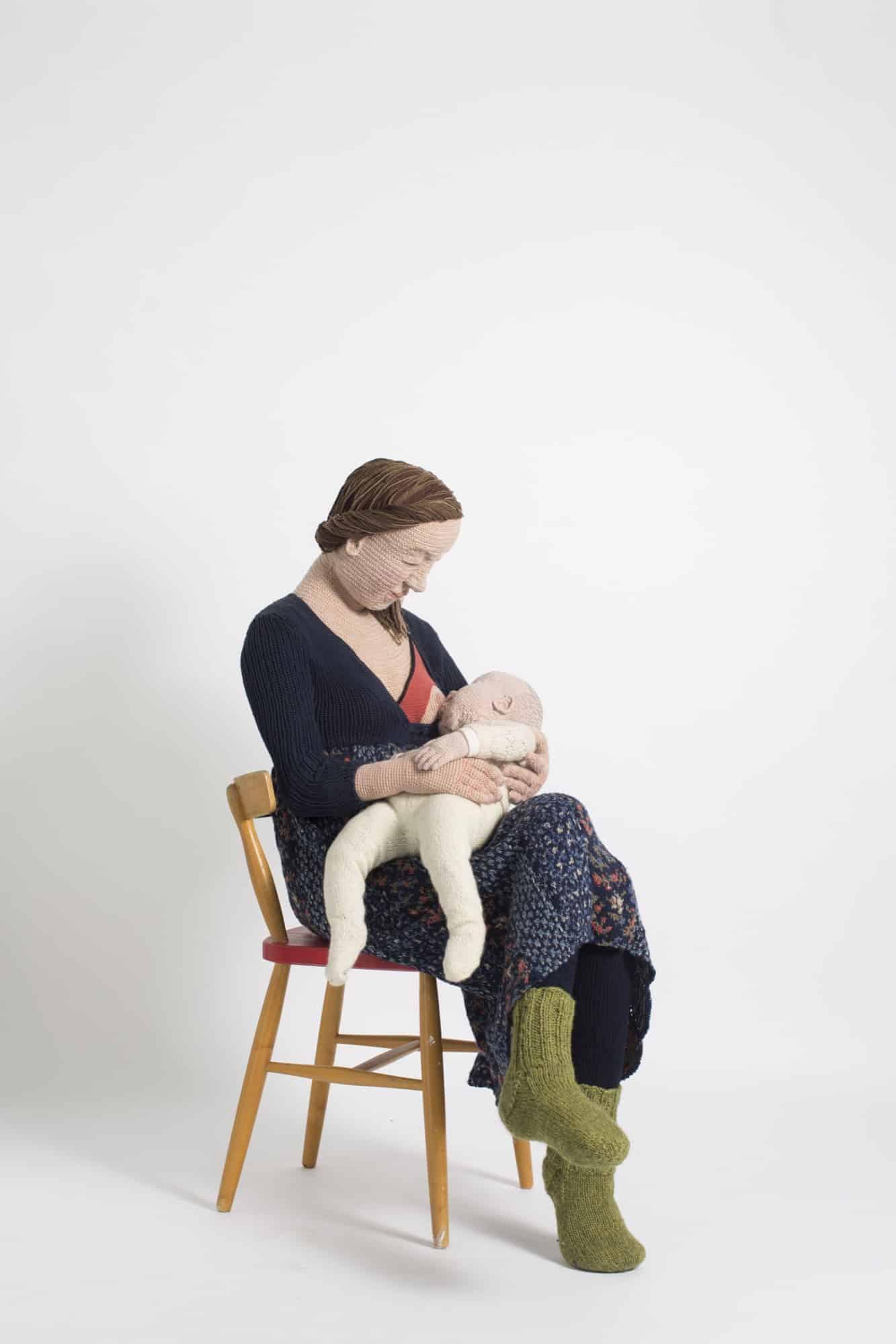 Gebreide en gehaakte dubbelgangers door Liisa Hietanen