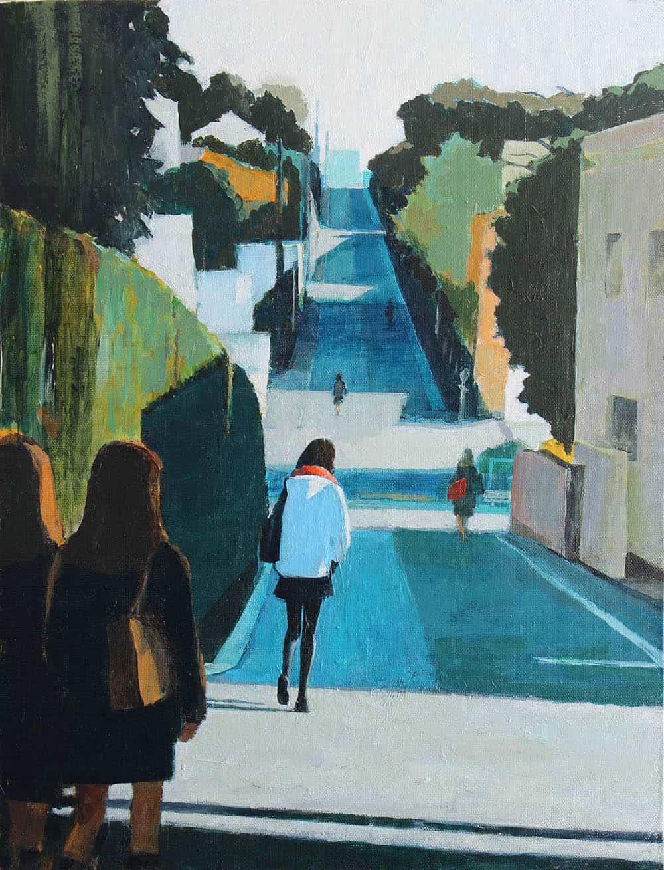 schilderij van de Japanse kunstenaar Makoto Funatsu