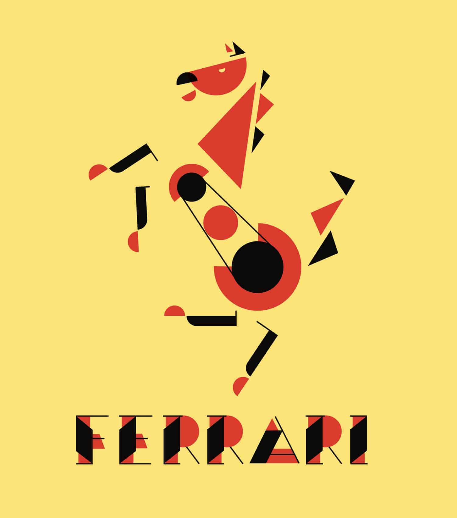 Logo in de stijl van Bauhaus
