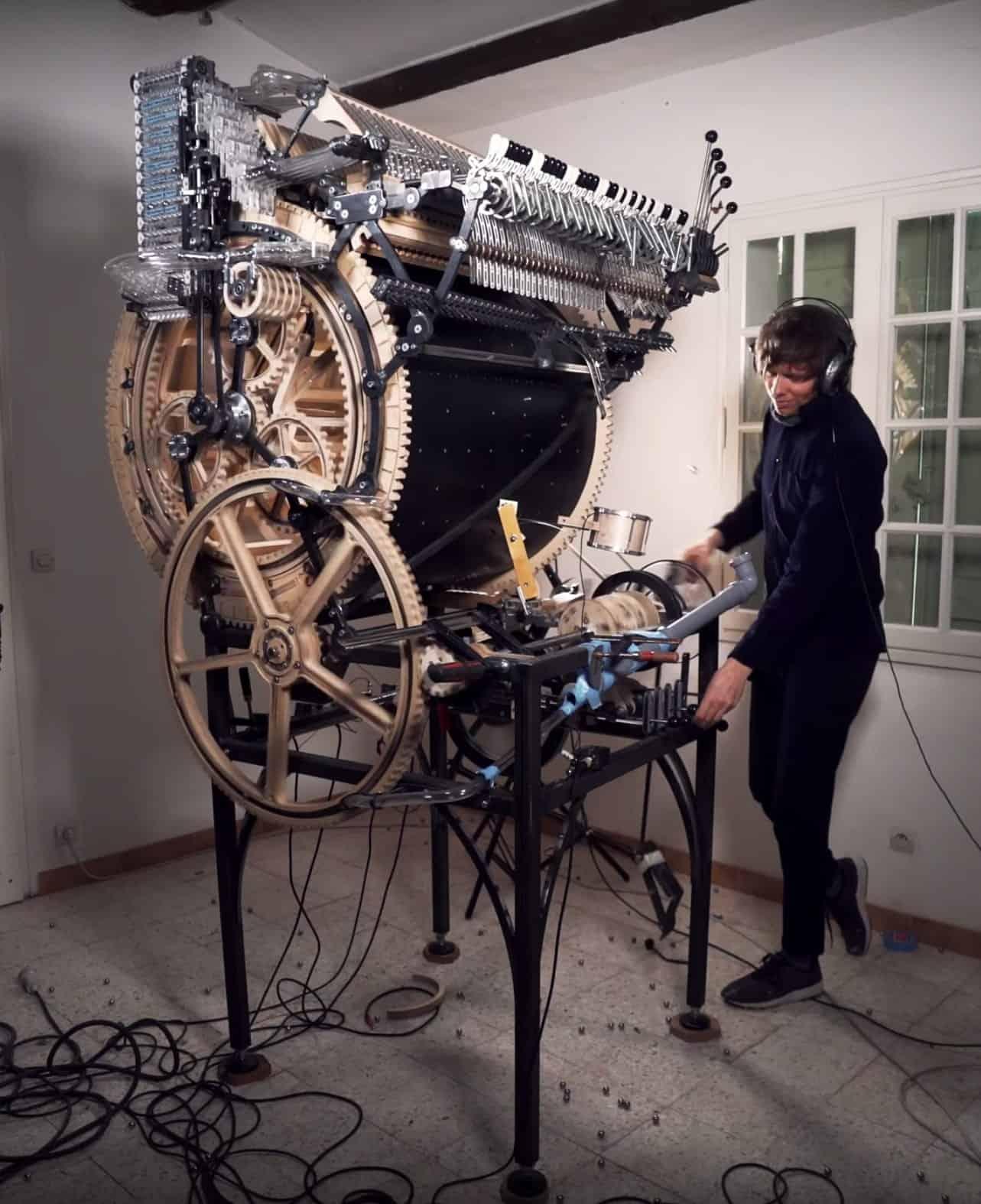 de nieuwe marble machine van Wintergatan