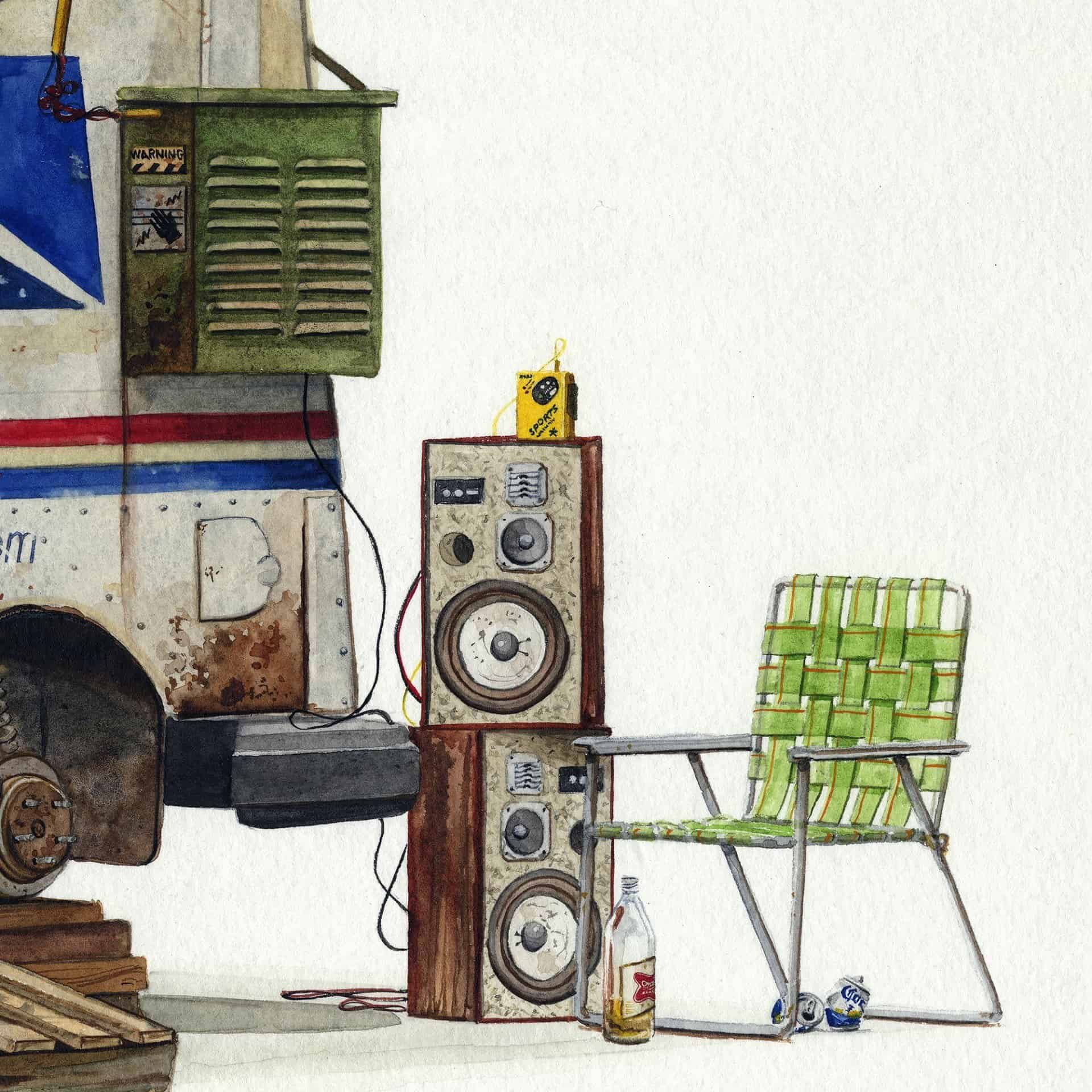 Postapocalyptische fantasiewereld door Alvaro Naddeo