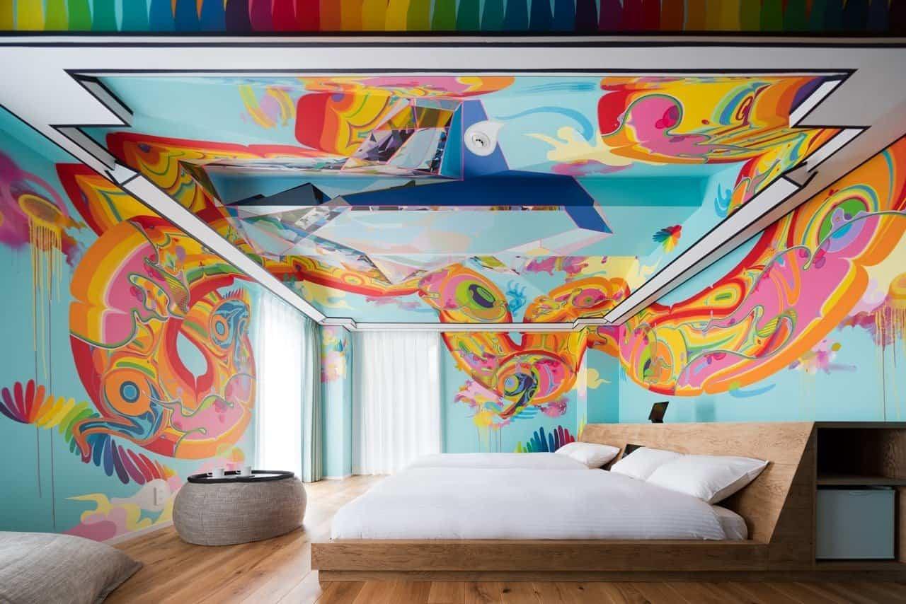 Artistiek hotel in Japan
