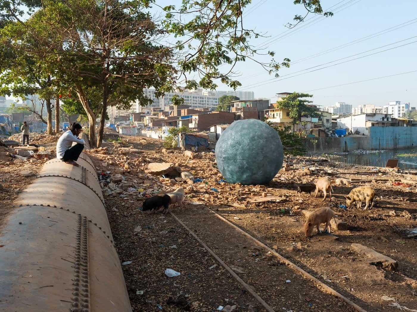 Bal van ijs in India
