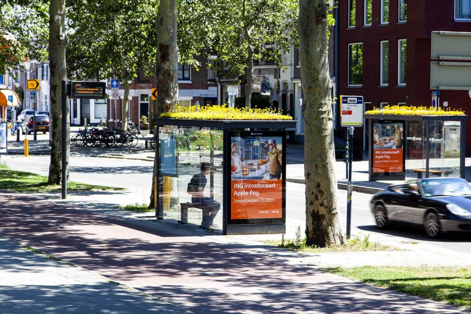 Bijvriendelijke bushalte in Utrecht