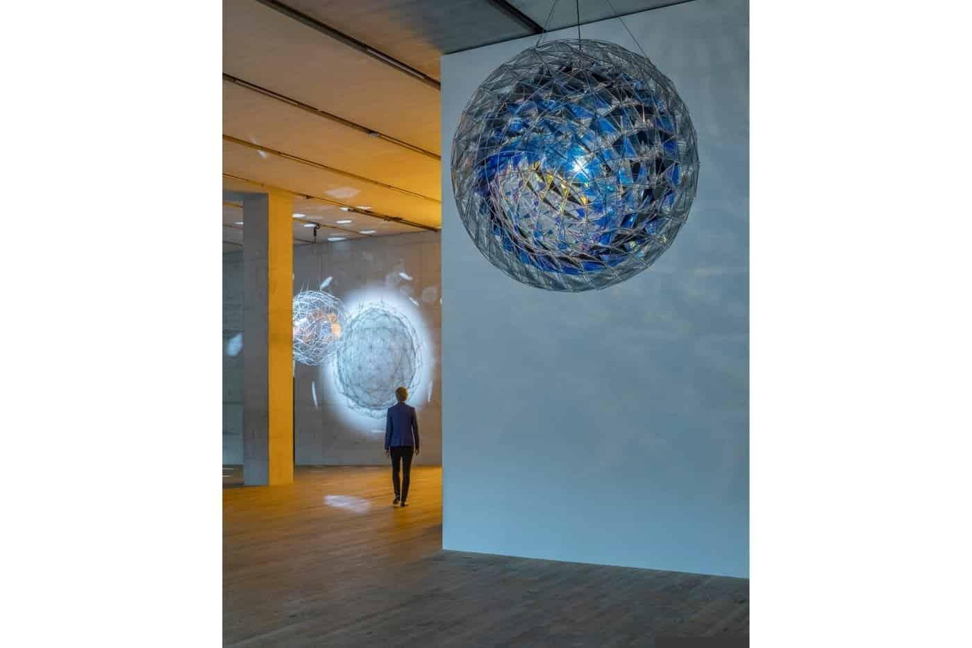 Cold wind sphere, 2012. Anders Sune Berg. Gift of the Clarence Westbury Foundation, 2013. Centre Pompidou, Musée national d'art modern, Centre de creation industrielle, Paris. © 2012 Olafur Eliasson