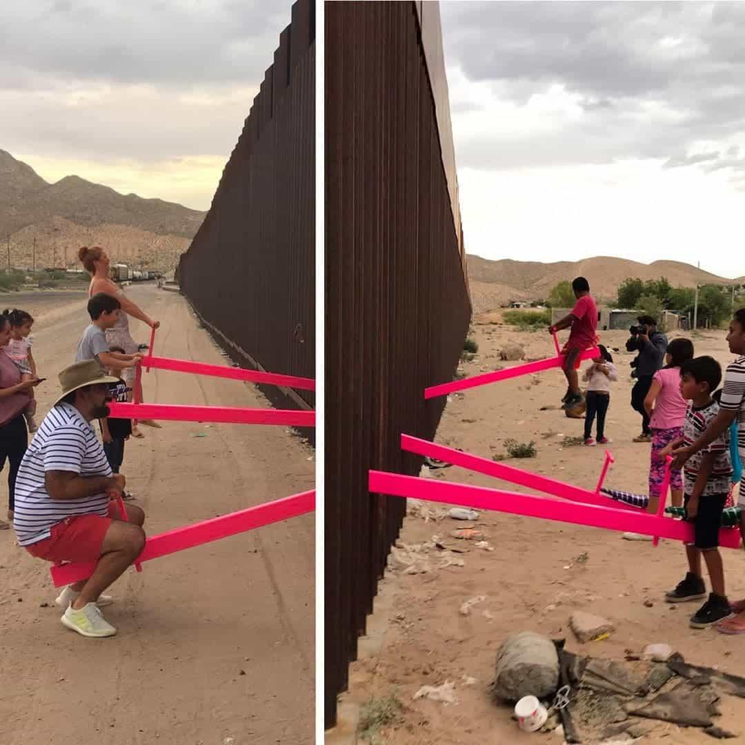 Wippen op de grens