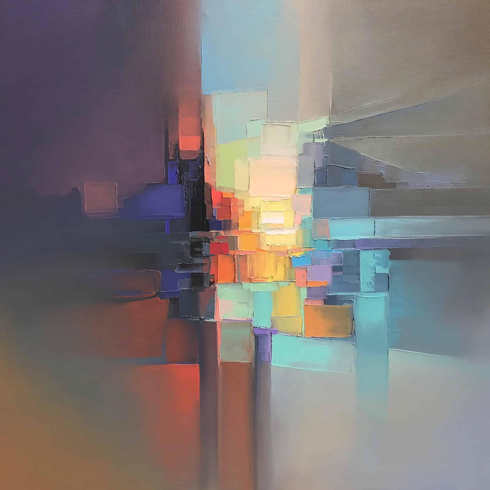 abstract landschap van Jason Anderson