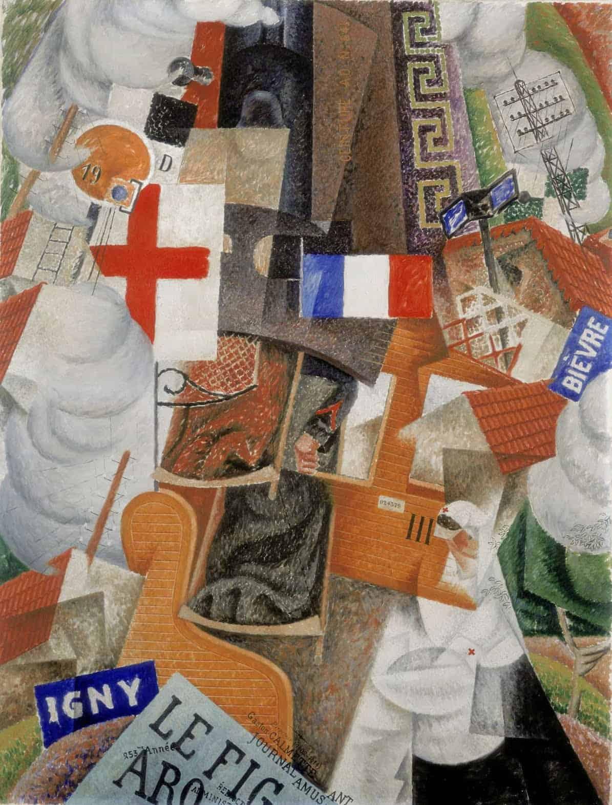 Gino Severini, Trein der gewonden, 1915. Collectie Stedelijk Museum Amsterdam