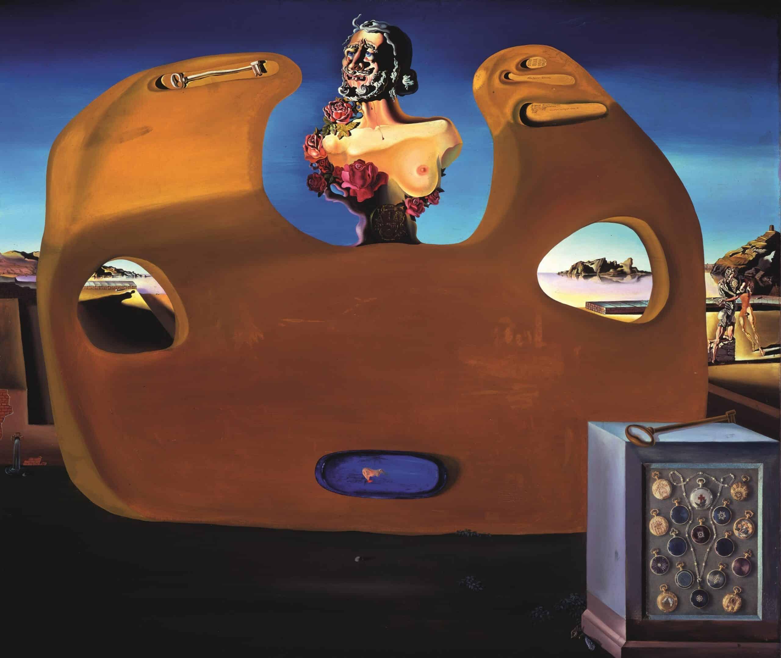 Salvador DALÍ Memory of the Child-Woman La mémoire de la femme-enfant De herinnering aan het vrouw-kind Ca. 1931 Oil and collage on canvas 99 x 120.65 cm Collection of The Dali Museum, St. Petersburg FL © Salvador Dalí, Fundació Gala-Salvador Dalí, (corresponding Rights Society), 2019