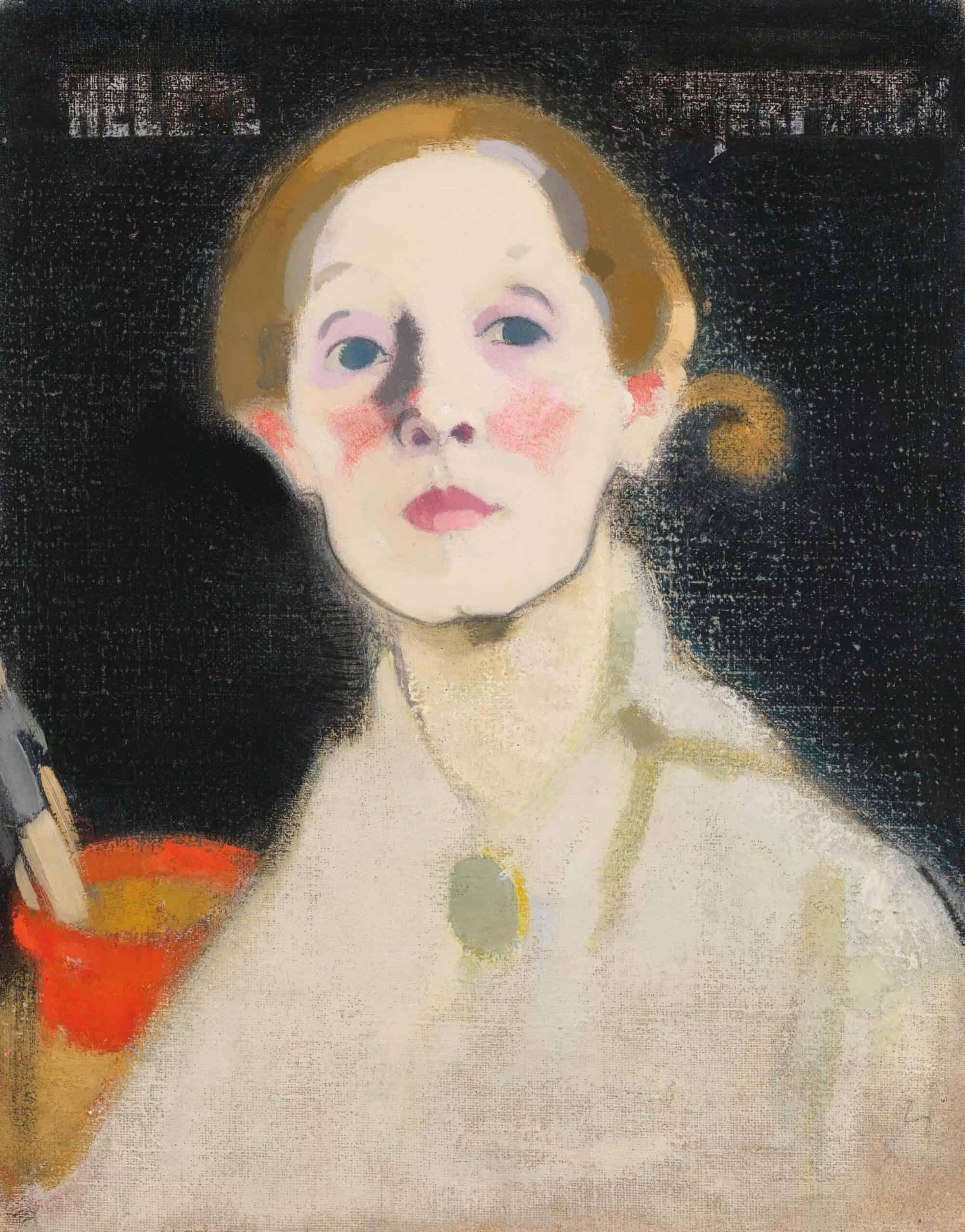Helene Schjerfbeck - Self-portrait, Black Background, 1915. Photograph: Royal Academy of Arts