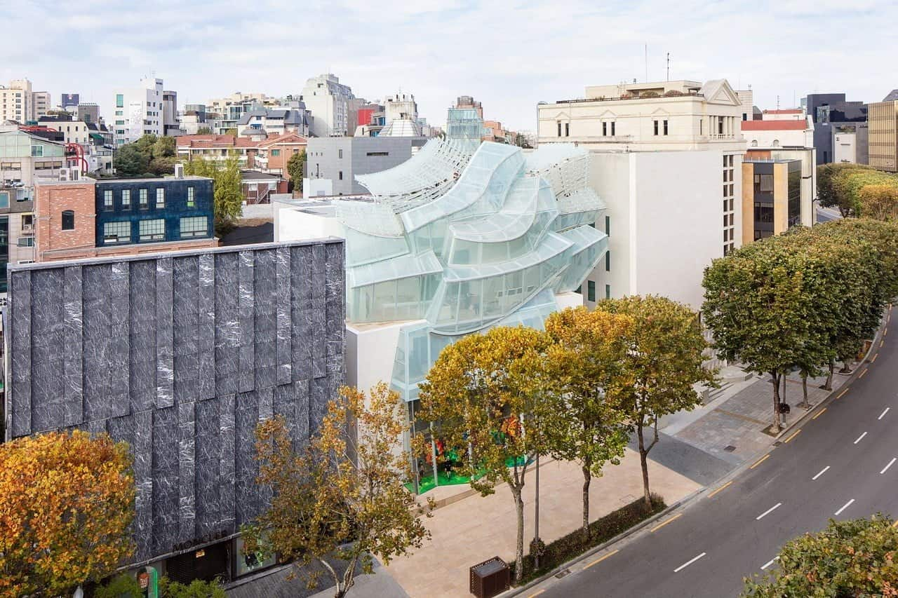 De nieuwe winkel van Louis Vuitton in Seoul