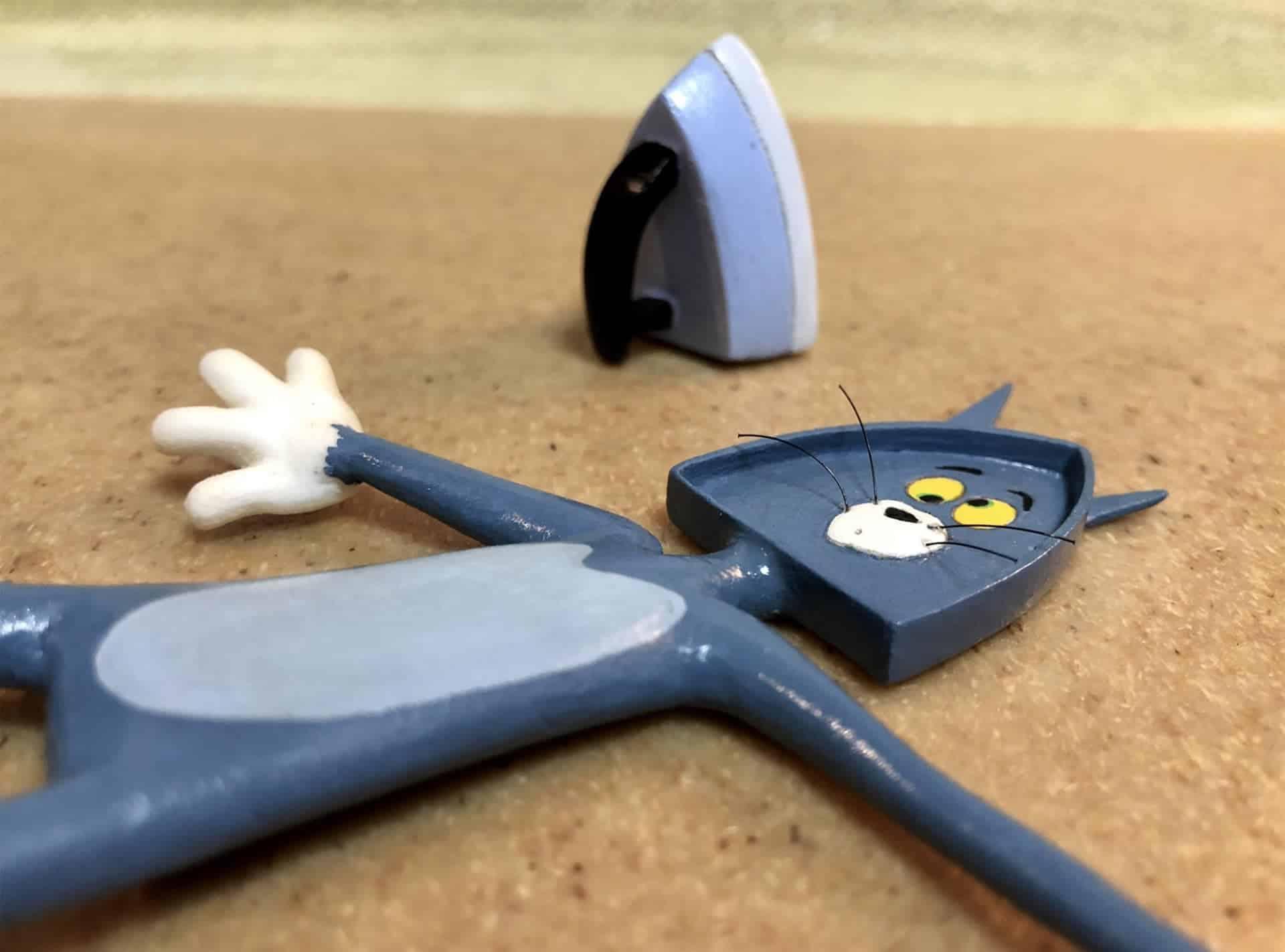 Humoristische sculptuur van Tom & Jerry