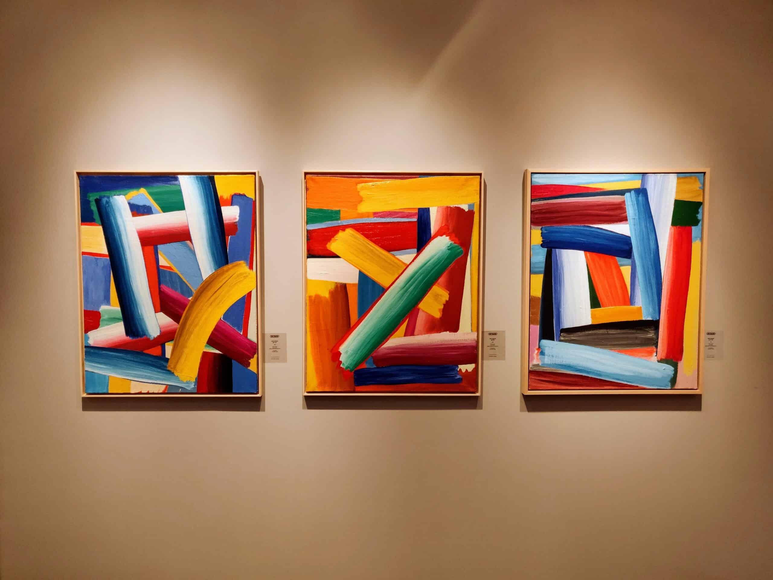 Drie werken van kunstenaar Alain Clément