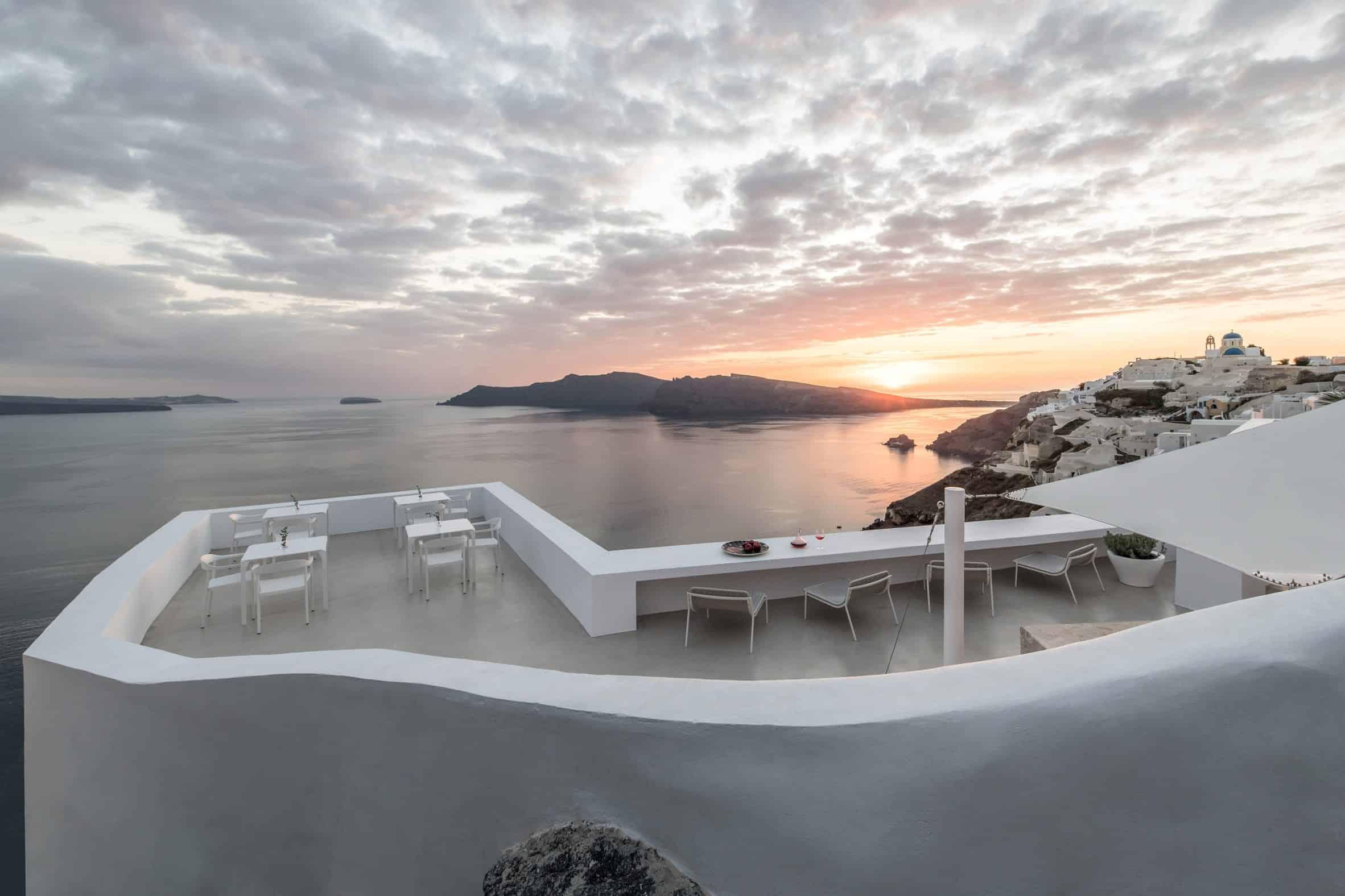 Mooi hotel op Santorini