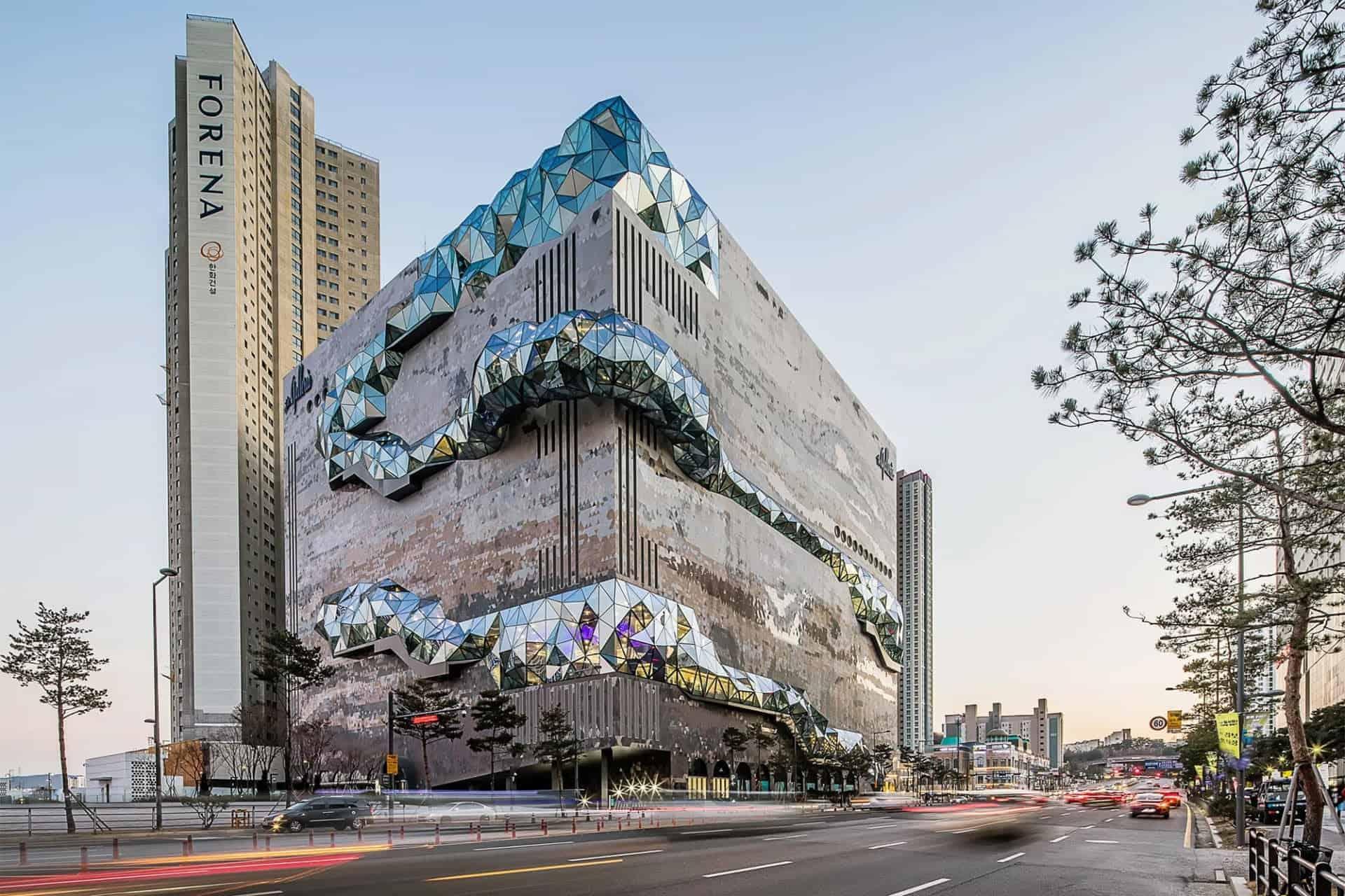 Een opvallend nieuw warenhuis door OMA