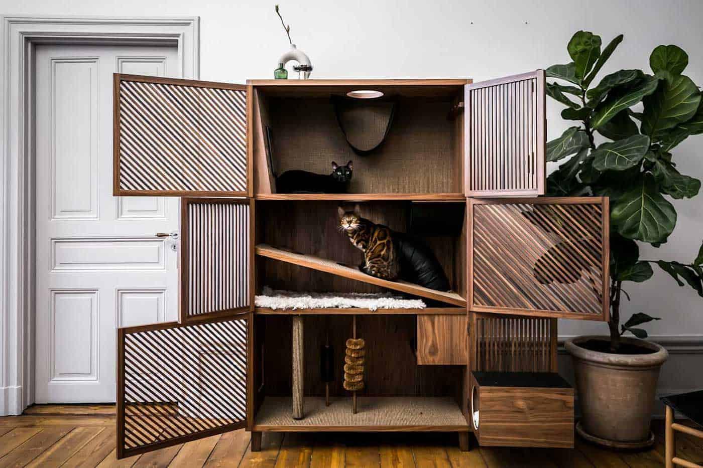 Designmeubel voor binnenkatten