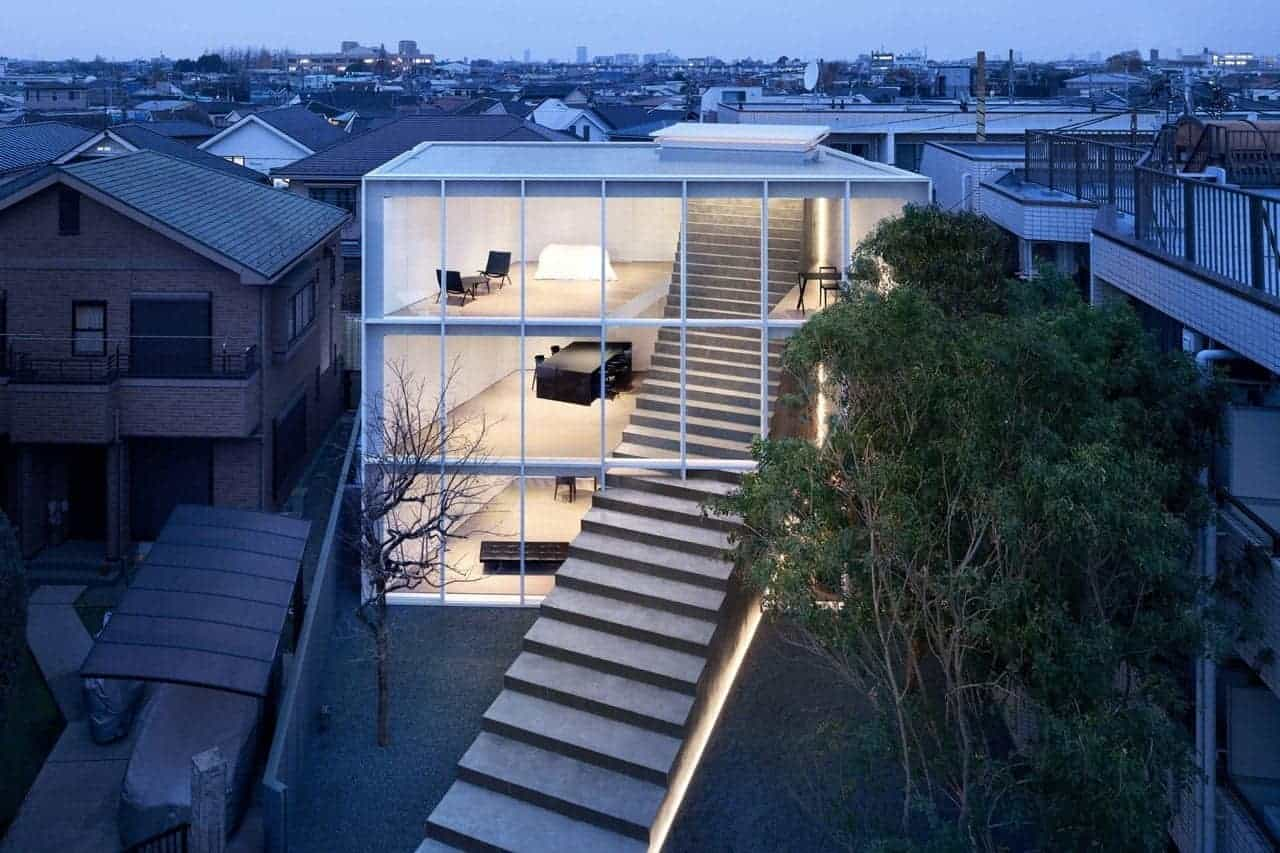 nendo Stairway House in Tokio