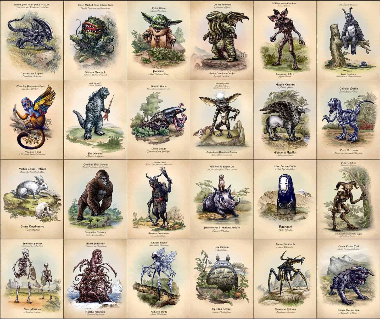 Wetenschappelijke namen voor iconen uit de populaire cultuur