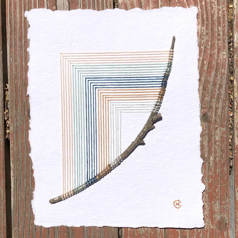 Modern borduurwerk van Natalie Ciccoricco