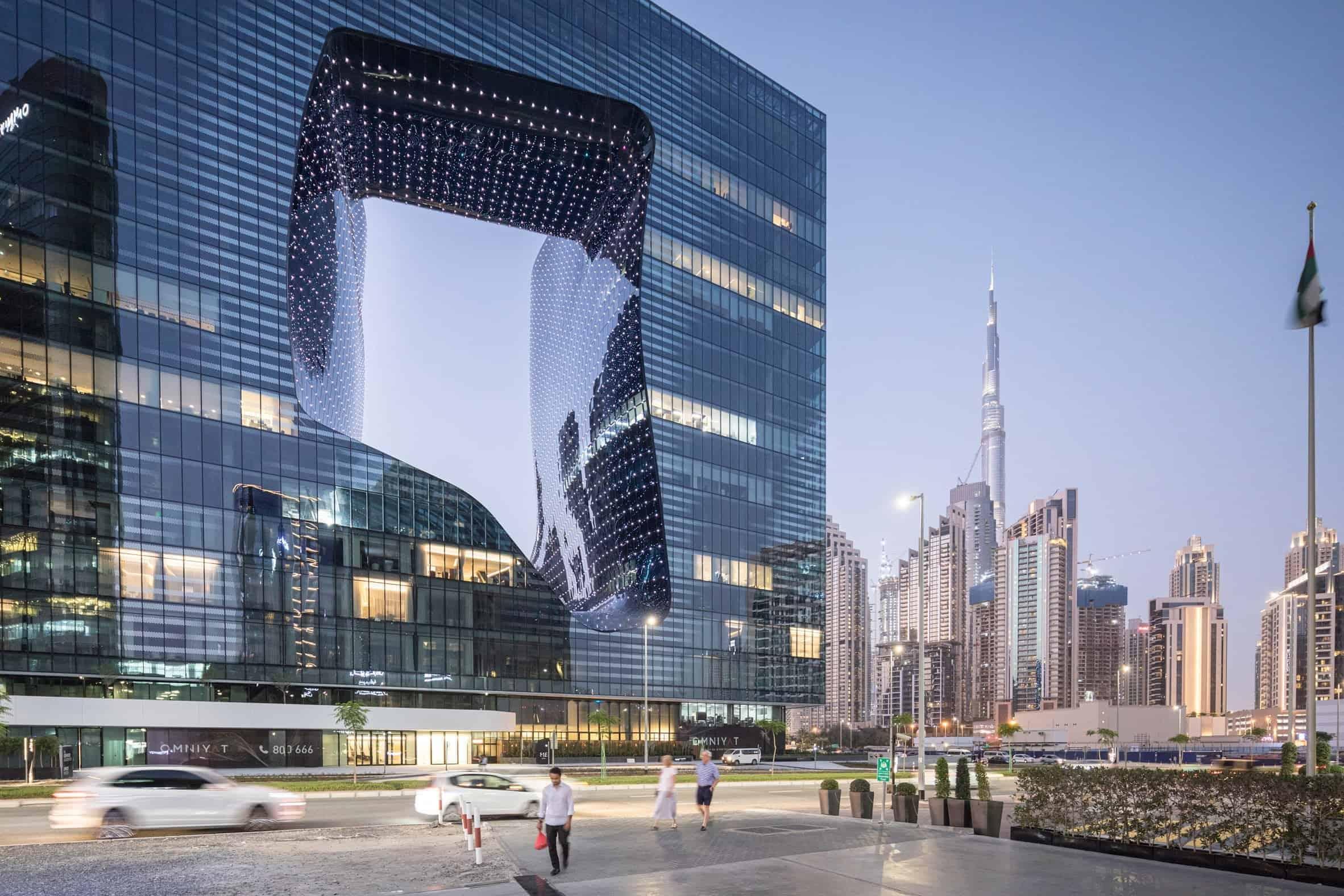 ME Dubai hotel door Zaha Hadid Architects